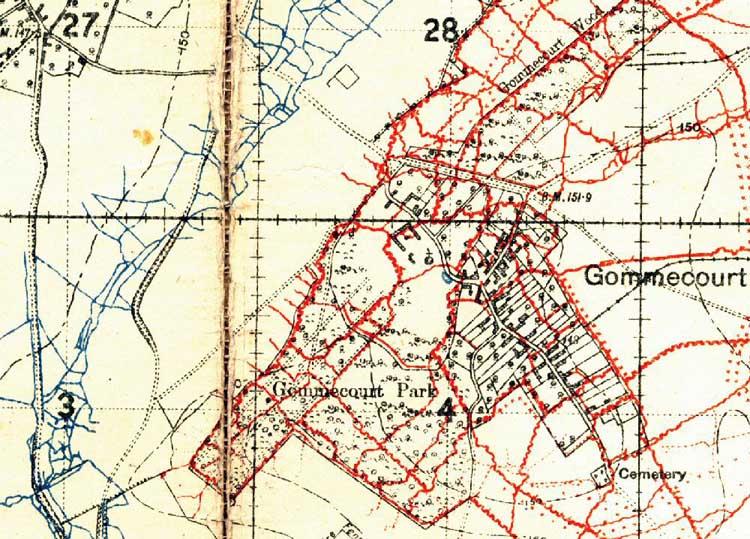 World War One Battlefields : The Somme : Gommecourt